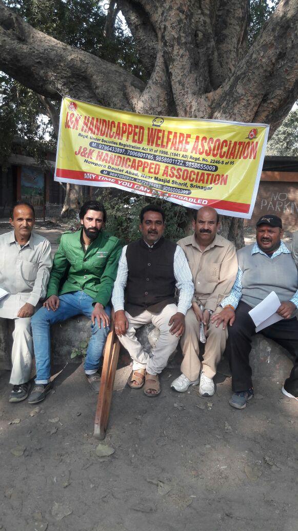 Protest and Hunger strike Against Govt by JK handicapped Association