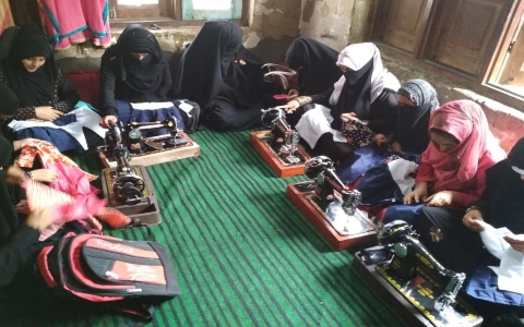 Swing and Cutting training Organized By Jk Handicapped Association Srinagar